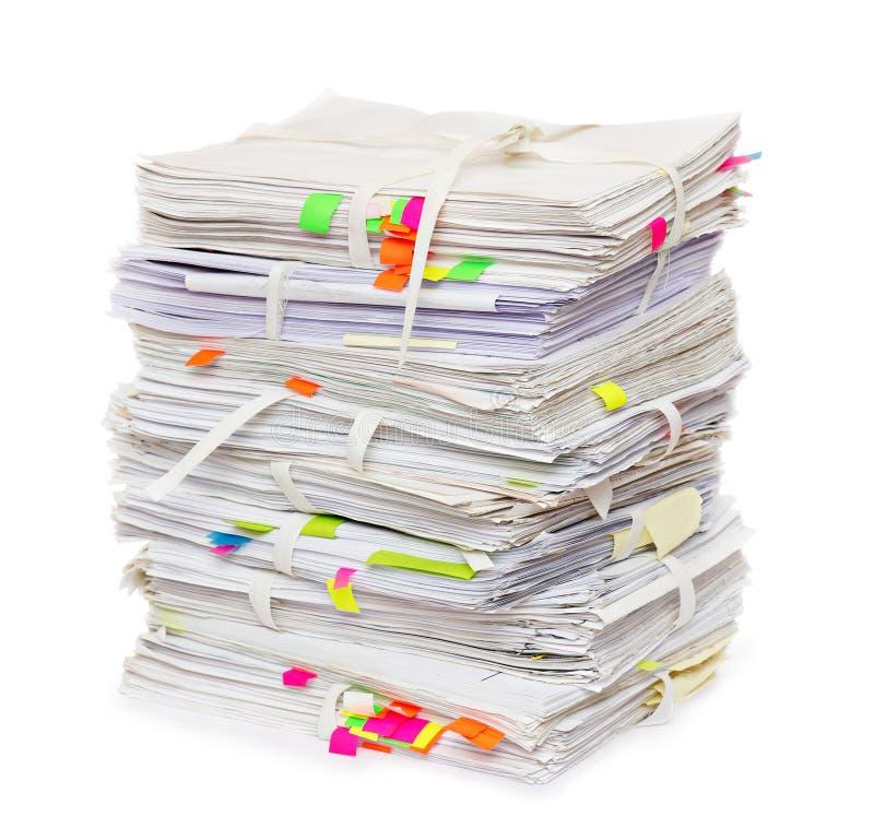 Pila de papeles oficiales imagen de archivo libre de regalías