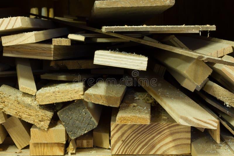 Pila de pedazos de madera fotografía de archivo libre de regalías