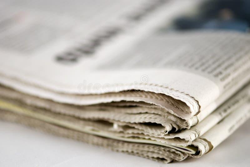 Pila de periódico fotografía de archivo