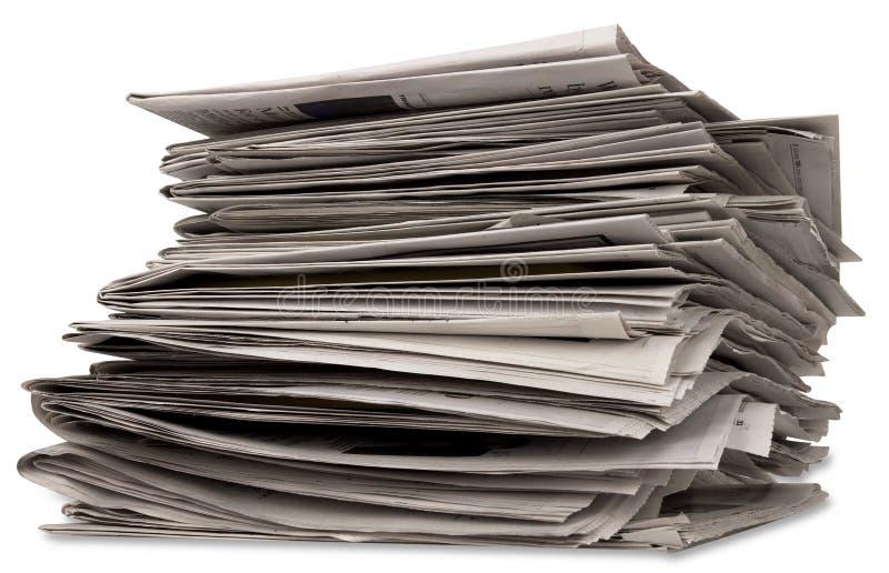 Pila de periódico imagen de archivo libre de regalías
