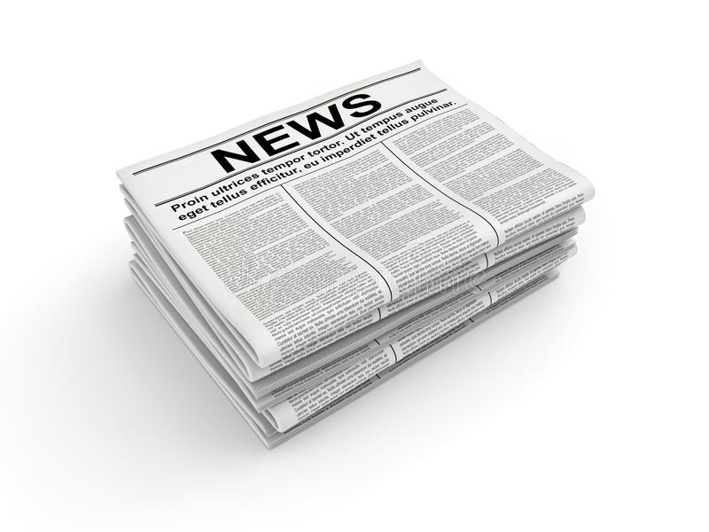 Pila de periódico en blanco representación 3d libre illustration