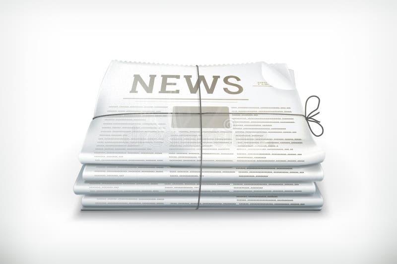 Pila de periódicos ilustración del vector