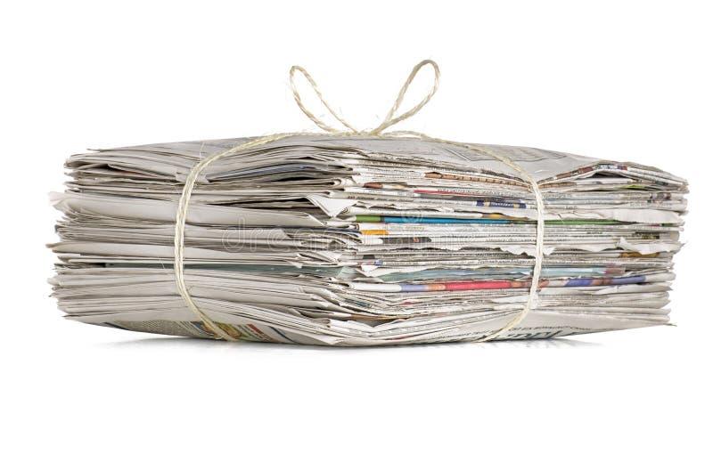 Pila de periódicos viejos fotografía de archivo libre de regalías