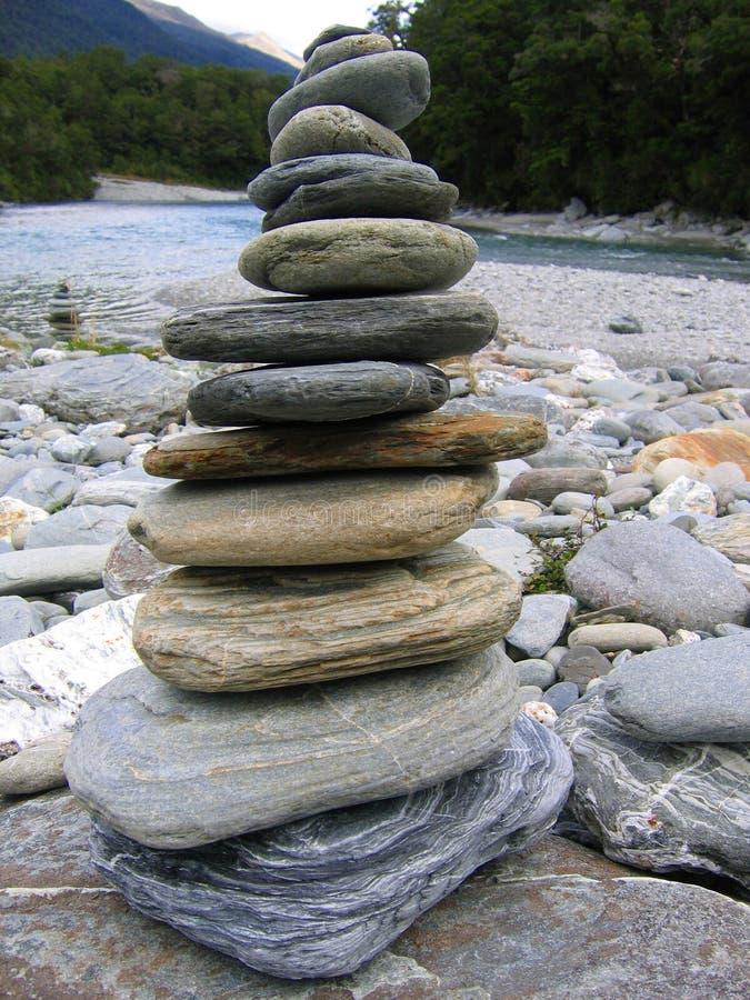 Pila de piedras foto de archivo libre de regalías