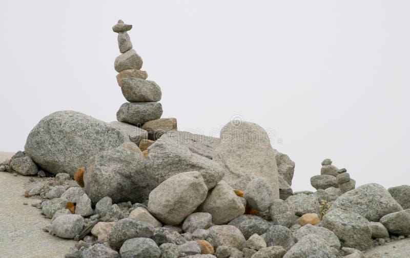 Pila de piedras fotografía de archivo