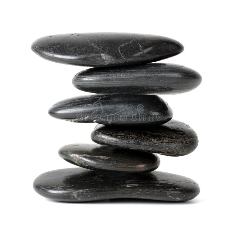 Pila de piedras equilibradas del zen imagenes de archivo