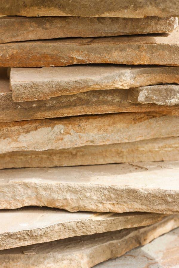 Pila de piedras planas imagen de archivo