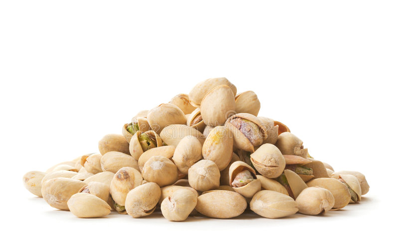 Pila de pistachos imagen de archivo