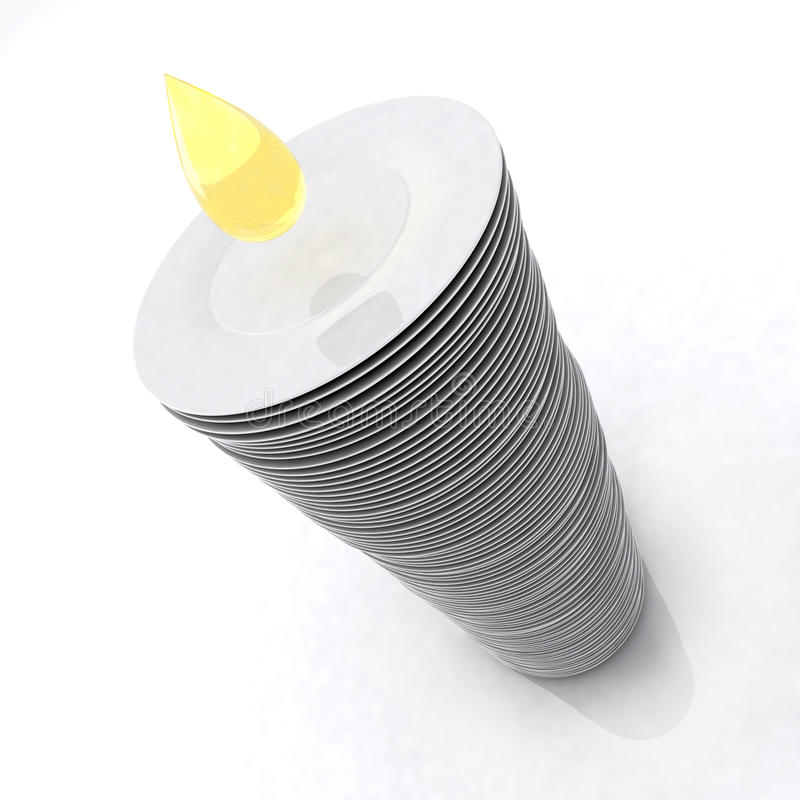 Pila de placas con gota del jabón stock de ilustración