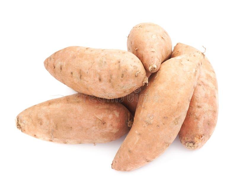 Pila de plantas de patata dulce aisladas fotografía de archivo