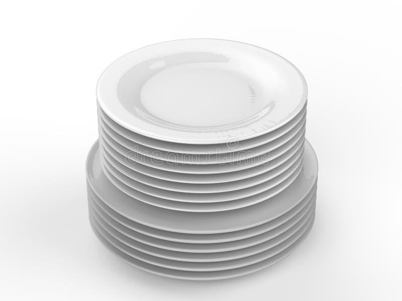 Pila de platos imagenes de archivo