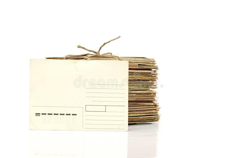 Pila de postales viejas imagen de archivo