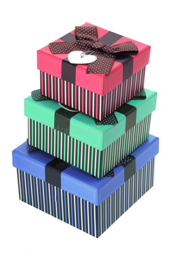 Pila de rectángulos de regalo imagen de archivo libre de regalías