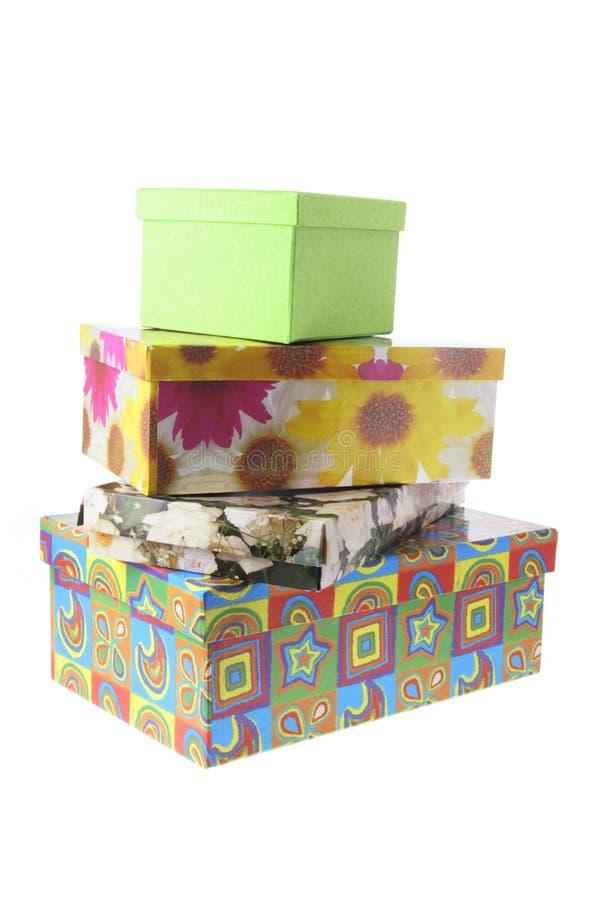 Pila de rectángulos de regalo imagen de archivo
