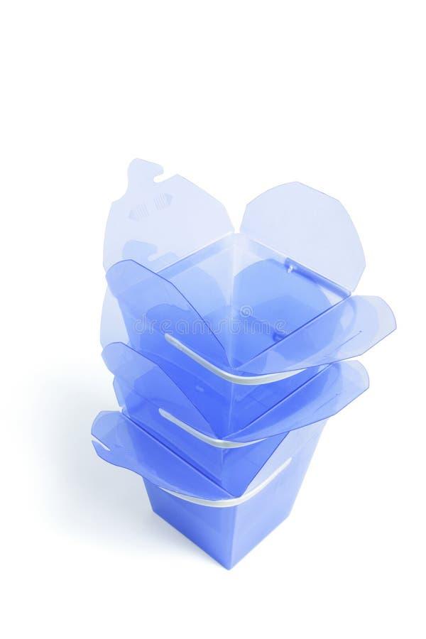 Pila de rectángulos de regalo plásticos fotos de archivo