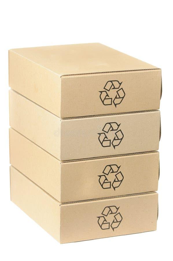 Pila de rectángulos reciclables fotografía de archivo libre de regalías