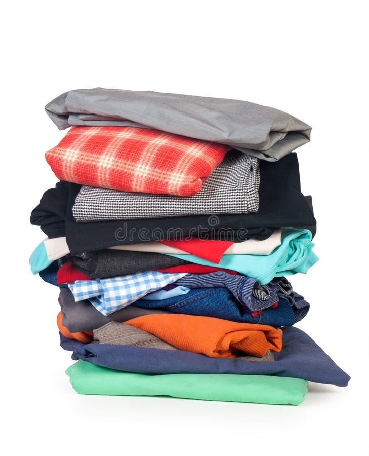 Pila de ropa foto de archivo