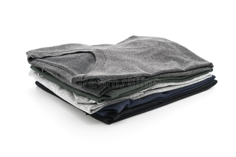 Pila de ropa en blanco foto de archivo libre de regalías