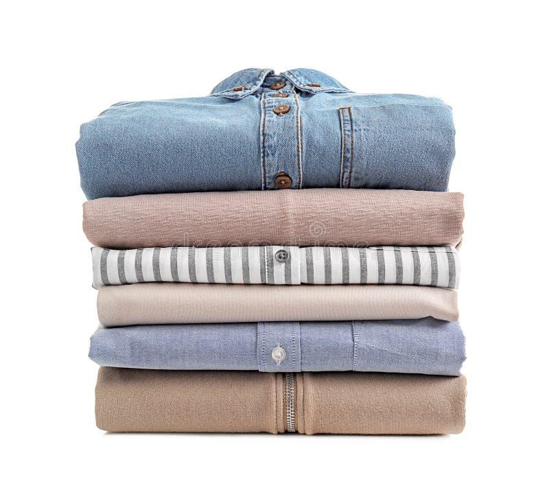 Pila de ropa limpia fotos de archivo libres de regalías
