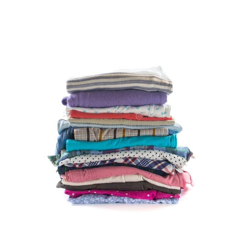 Pila de ropa plegable fotos de archivo libres de regalías