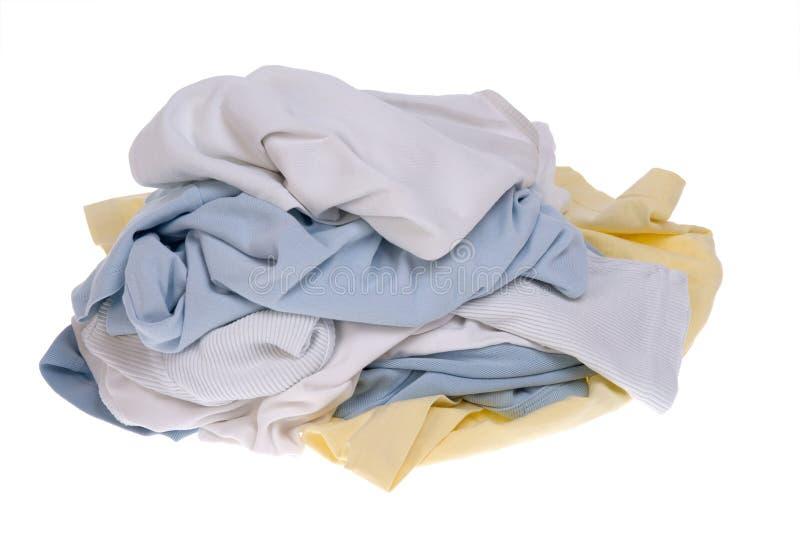 Pila de ropa sucia para el lavadero foto de archivo libre de regalías