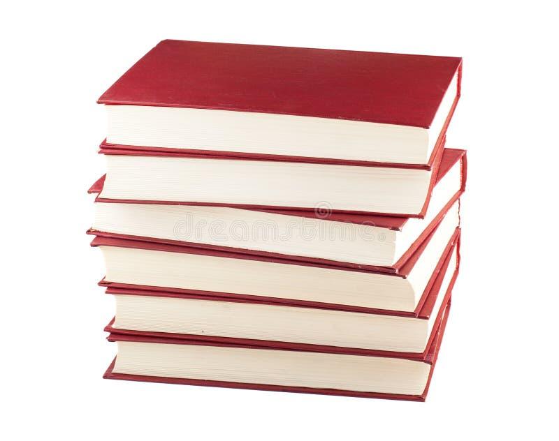 Download Pila de seis libros rojos imagen de archivo. Imagen de información - 41904641
