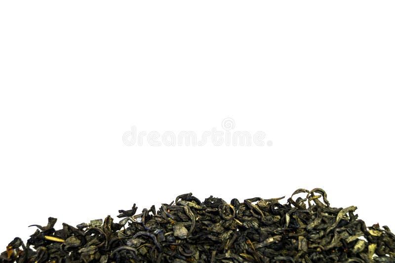 Pila de té aislada en el fondo blanco fotos de archivo