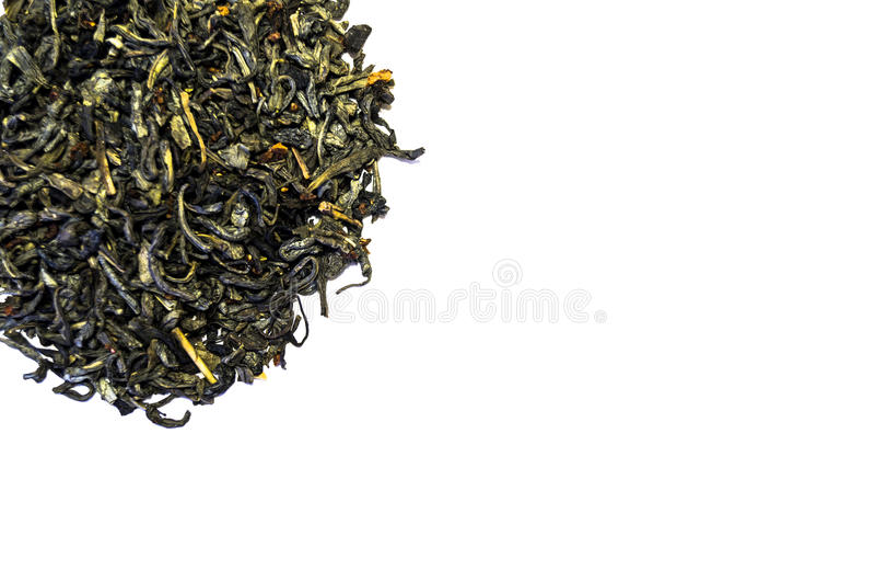 Pila de té aislada en el fondo blanco foto de archivo libre de regalías