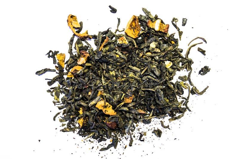 Pila de té aislada en el fondo blanco imagen de archivo libre de regalías