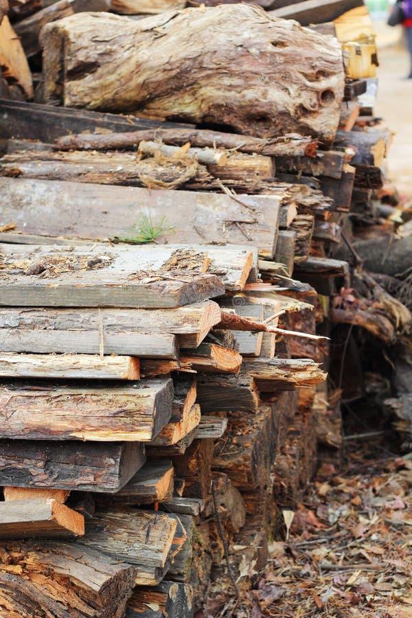 Pila de textura del fondo de madera de pino foto de archivo libre de regalías