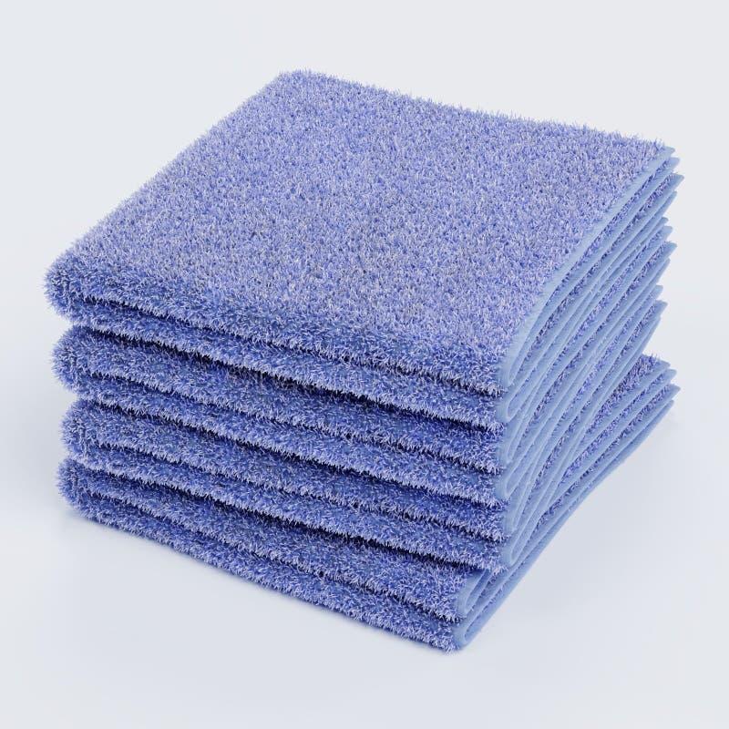 Pila de toallas ilustración del vector