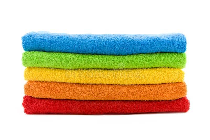 Pila de toallas fotos de archivo libres de regalías