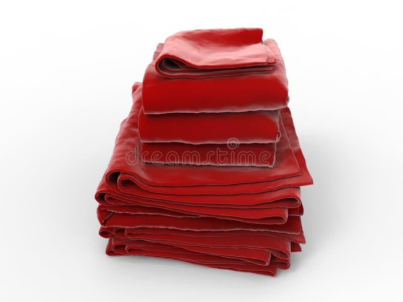 Pila de toallas rojas libre illustration