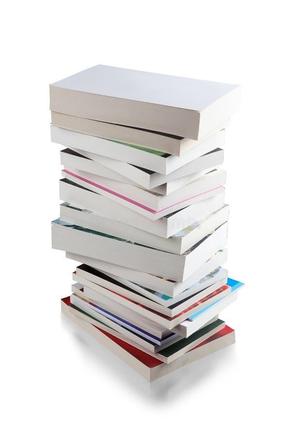 Pila de trayectoria de recortes de los libros foto de archivo libre de regalías