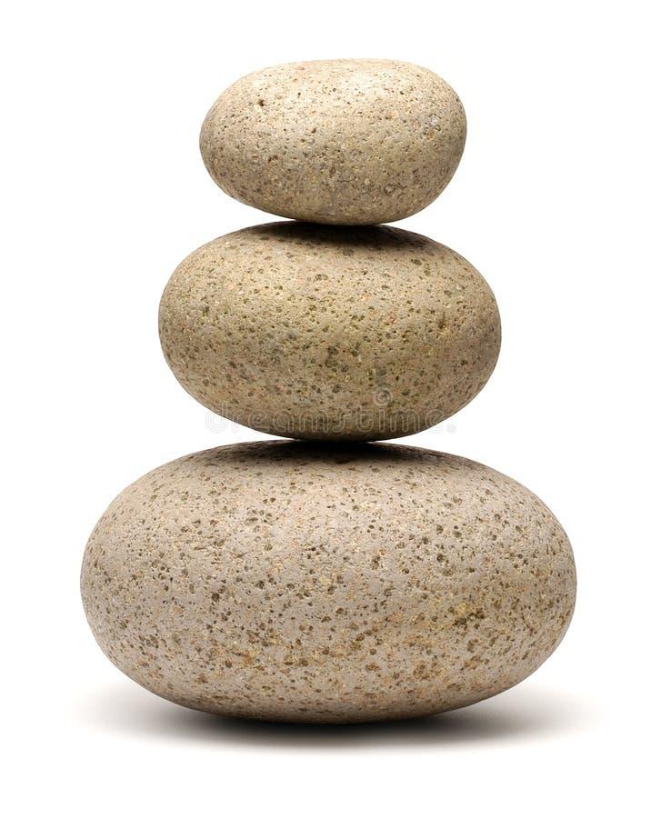 Pila de tres rocas fotografía de archivo