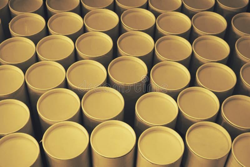 Pila de tubo de papel redondo imagen de archivo