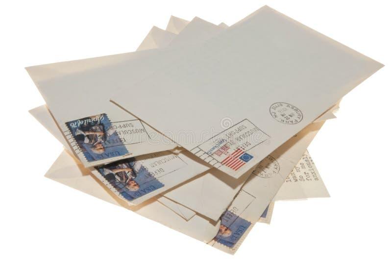 Pila de viejas cartas foto de archivo