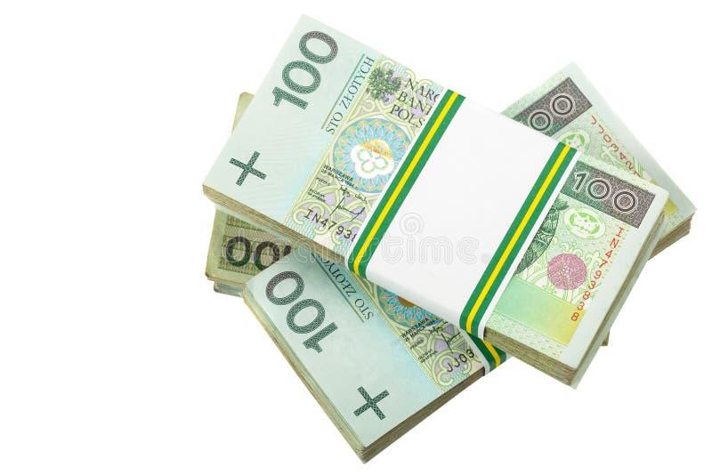 Pila de zloty polaco imagen de archivo libre de regalías