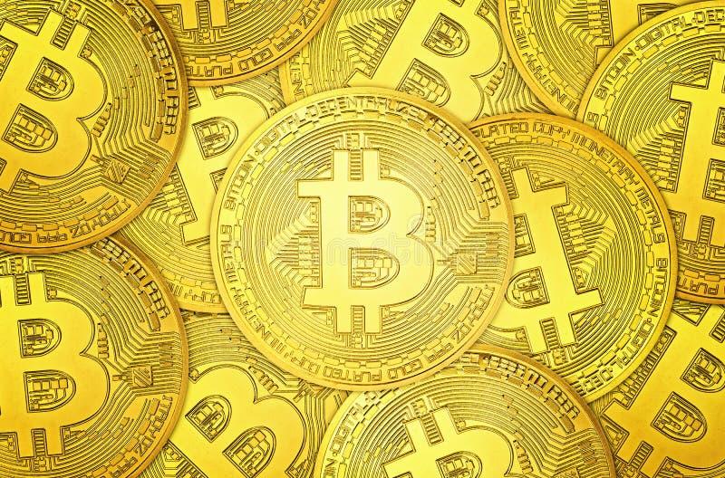 Pila dei fondi Bitcoin illustrazione vettoriale
