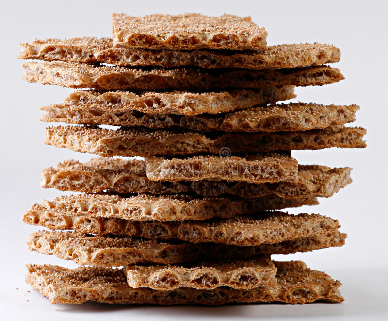 Pila del biscote curruscante fotografía de archivo libre de regalías