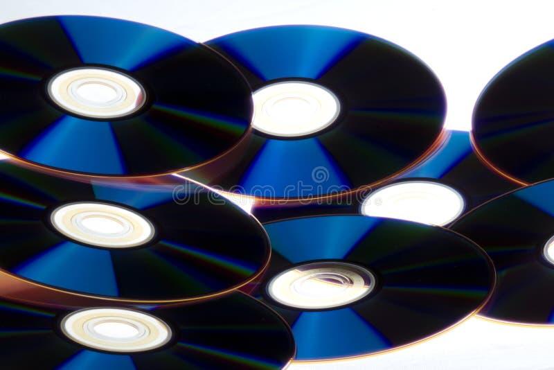 Pila del CD fotografía de archivo