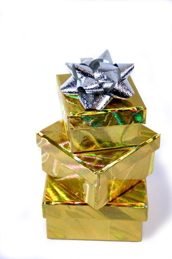 Pila del contenitore di regalo immagine stock libera da diritti