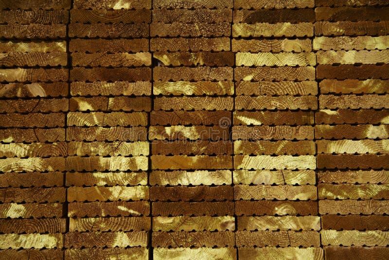 Pila del decking de la madera fotografía de archivo libre de regalías