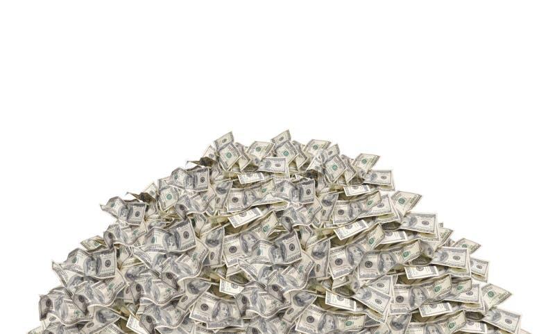 Pila del dinero fotografía de archivo libre de regalías