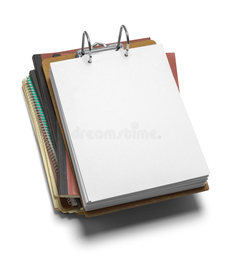 Pila del fichero del tablero de la oficina fotos de archivo libres de regalías