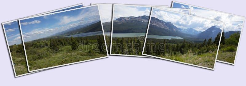 Pila del Glacier National Park di panorama delle stampe immagini stock