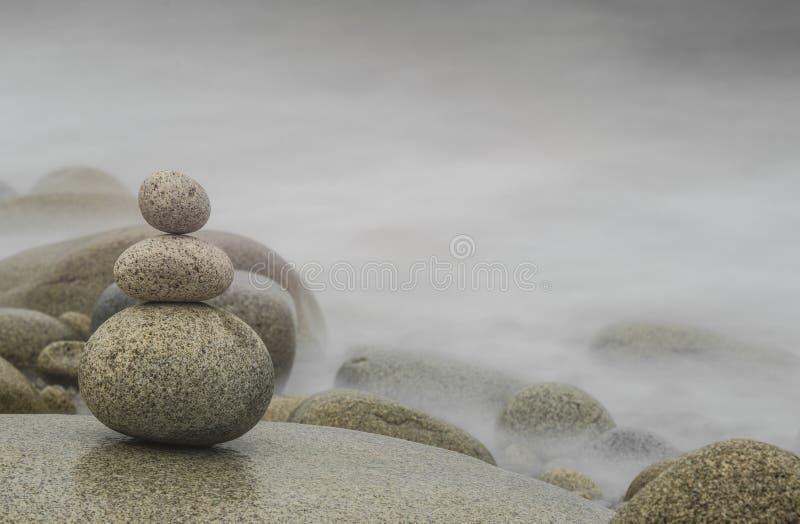 Pila del guijarro, Zen Background imagen de archivo