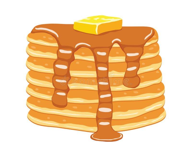 Pila del pancake di vettore illustrazione di stock