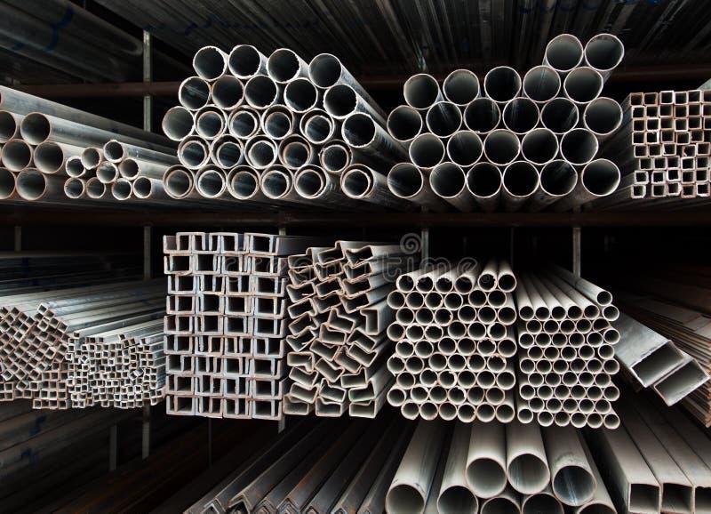 Pila del tubo del metallo immagini stock libere da diritti