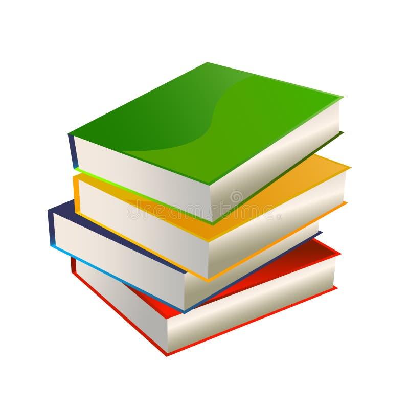 Pila del vector de los libros stock de ilustración